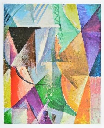Robert Delaunay Ein Fenster 1912 13