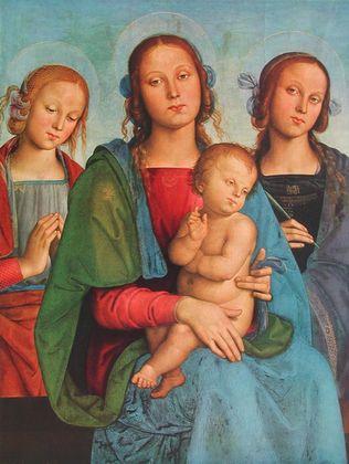 Pietro Perugino Madonna mit Kind und Heiligen