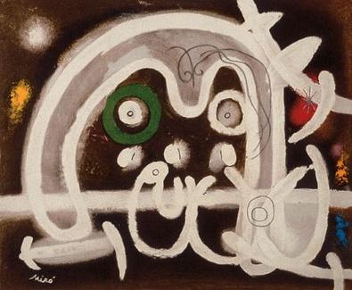 Joan Miro Mensch und Vogel