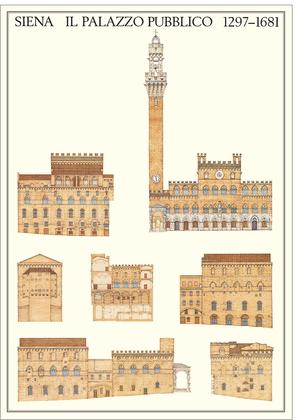 unbekannter Kuenstler Siena, Il Palazzo Pubblico