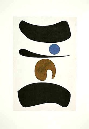 Willi Baumeister Tori mit blauem Punkt