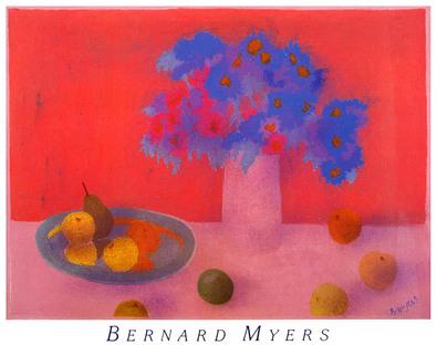 Bernard Myers Red Still Life
