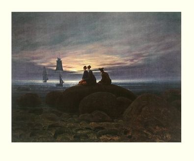 Caspar David Friedrich Mondaufgang am Meer, 1812