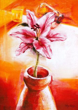 Gilles Legris Pink Amaryllis Decoration