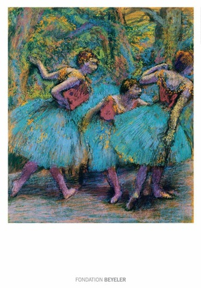 Edgar Degas Trois danseuses (jupes bleues)