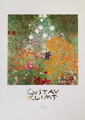 Gustav Klimt Blumengarten (mit Schrift)