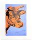 Warhol andy cow 1971 purple orange medium