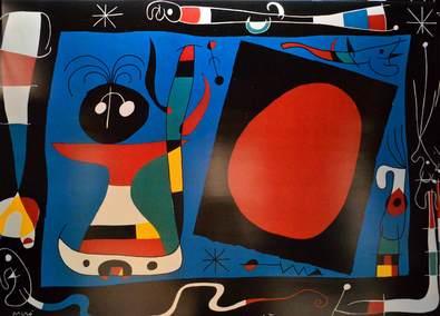 Joan Miro Frau im Spiegel
