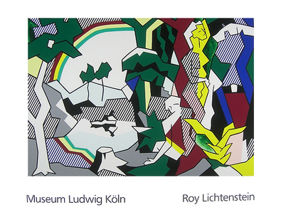 Roy Lichtenstein Landscape with Figures and Rainbow