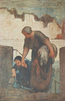 Honore Daumier Die Waschfrau