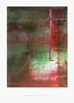 Gerhard Richter Abstraktes Bild gruen