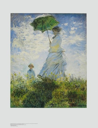 Claude Monet Frau Mit Sonnenschirm Poster Kunstdruck Bei