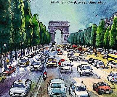 Michael Leu Arc de Triomphe und Avenue des Cha