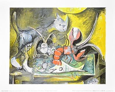 Pablo Picasso Nature morte chat et homard