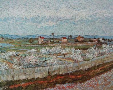 Vincent van Gogh Der Obstgarten  1889 Landschaft bei Arles