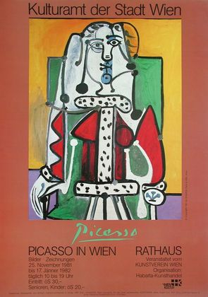 Pablo Picasso Frau en face im gruenen Lehnstuhl