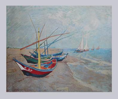 Vincent van Gogh Boote von Stes Maries, 1888