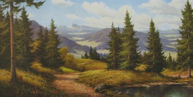 Ludwig Muninger Sonniges Bergland