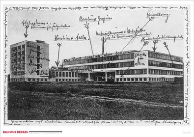 unbekannt Bauhauspostkarte