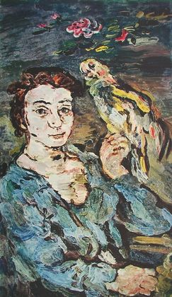 Oskar Kokoschka Dame mit Papagei