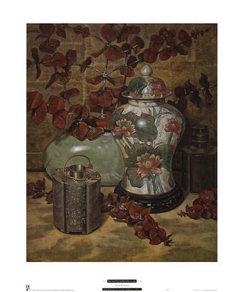 Francie Botke Eucalyptus with Lotus Vase