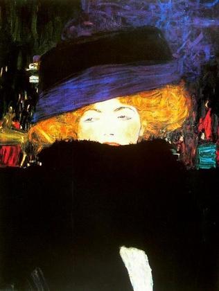 Gustav Klimt Dame mit Hut