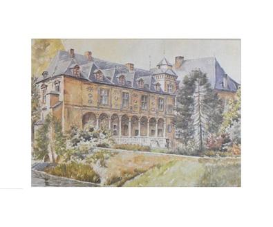 unbekannter Kuenster Schloss Rheydt, Aquarell