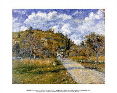 Camille Pissarro The Highway (La cote de Valhermeil), 1880