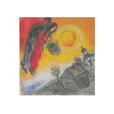 Marc Chagall Paar am gelben Himmel