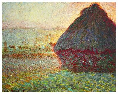 Claude Monet Heuschober bei Sonnenuntergang, 1891