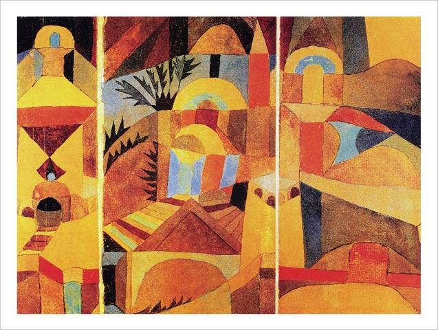 paul klee il giardino del tempio poster kunstdruck bei. Black Bedroom Furniture Sets. Home Design Ideas