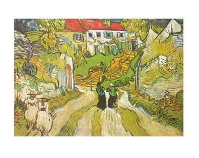 Vincent van Gogh Weg und Treppe in Auvers