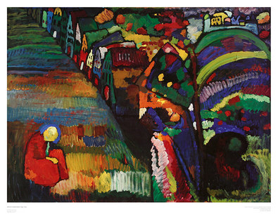 Wassily Kandinsky Painting with Houses