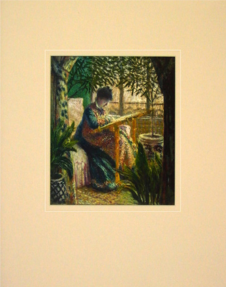 Claude Monet Madame Monet Embroidering, 1875