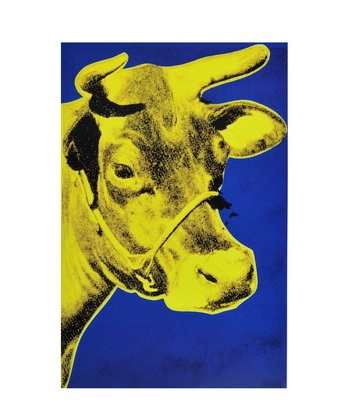 Andy Warhol Cow, 1971 (Blue & Yellow)
