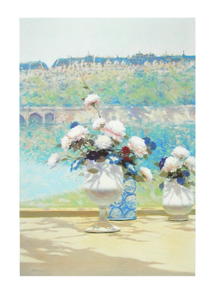 Anders Gisson Blumen mit Bruecke