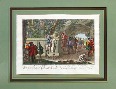 Hertz Daniel Johann / Ridinger Elias Die Gruppe an der Wand (1722)