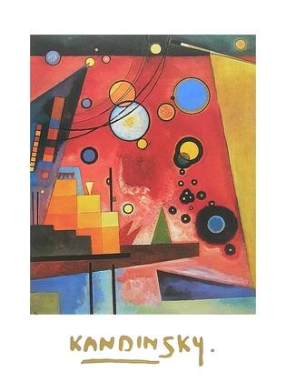 Wassily Kandinsky Schweres Rot
