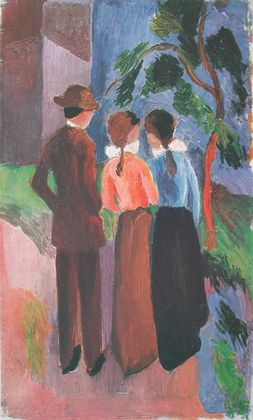 August Macke Spaziergang zu Dreien  1914