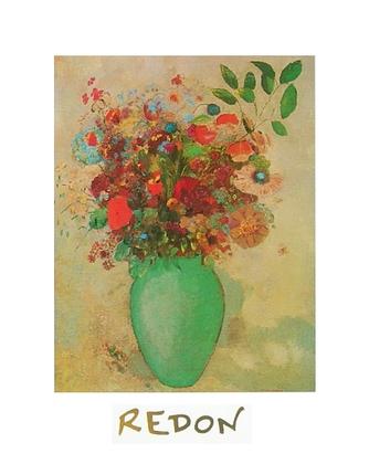 Odilon Redon Blumen in tuerkiser Vase