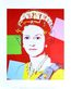 Warhol andy reigning queens queen elizabeth ii of the united kingdom 1985 dark outline medium