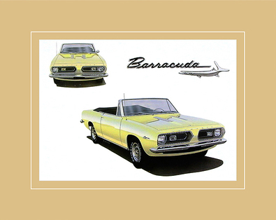 Chrysler Historical Prints 1967 Plymouth Barracuda 273 4-BBL