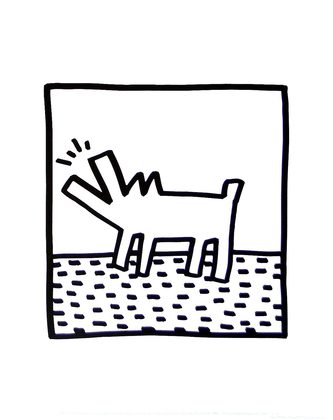 Keith Haring Untitled (barking dogs)