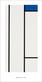 Piet Mondrian Composition (blanc/blue)