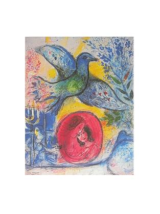 Marc Chagall Liebende mit Vogel