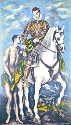Domenico El Greco Der heilige Martin