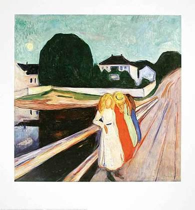 Edvard Munch Maedchen auf der Bruecke II