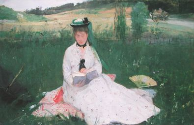 Berthe Morisot Dame in der Wiese