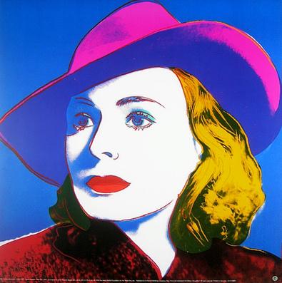 Andy Warhol Ingrid Bergmann ( gross )