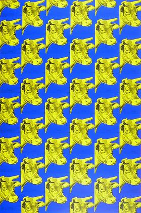 andy warhol kuehe blau gelb poster kunstdruck bei. Black Bedroom Furniture Sets. Home Design Ideas